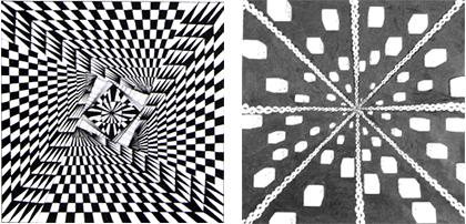平面构成中的点线面图片