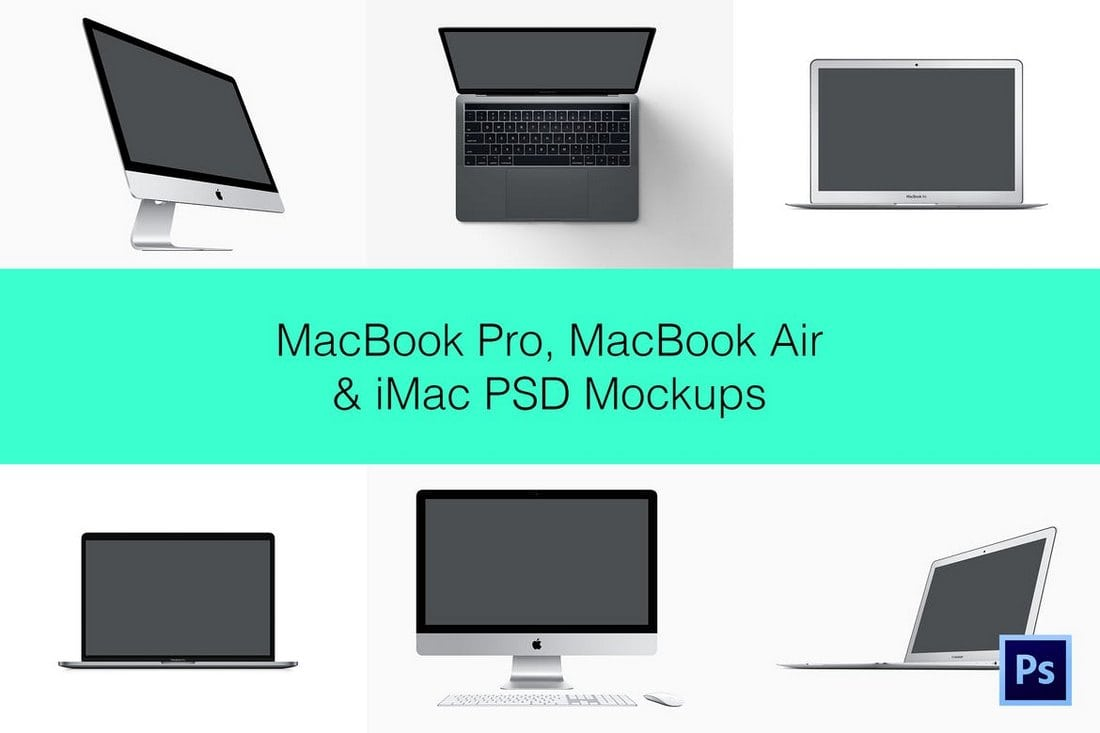 iMac PSD Mockup and Other Apple Devices