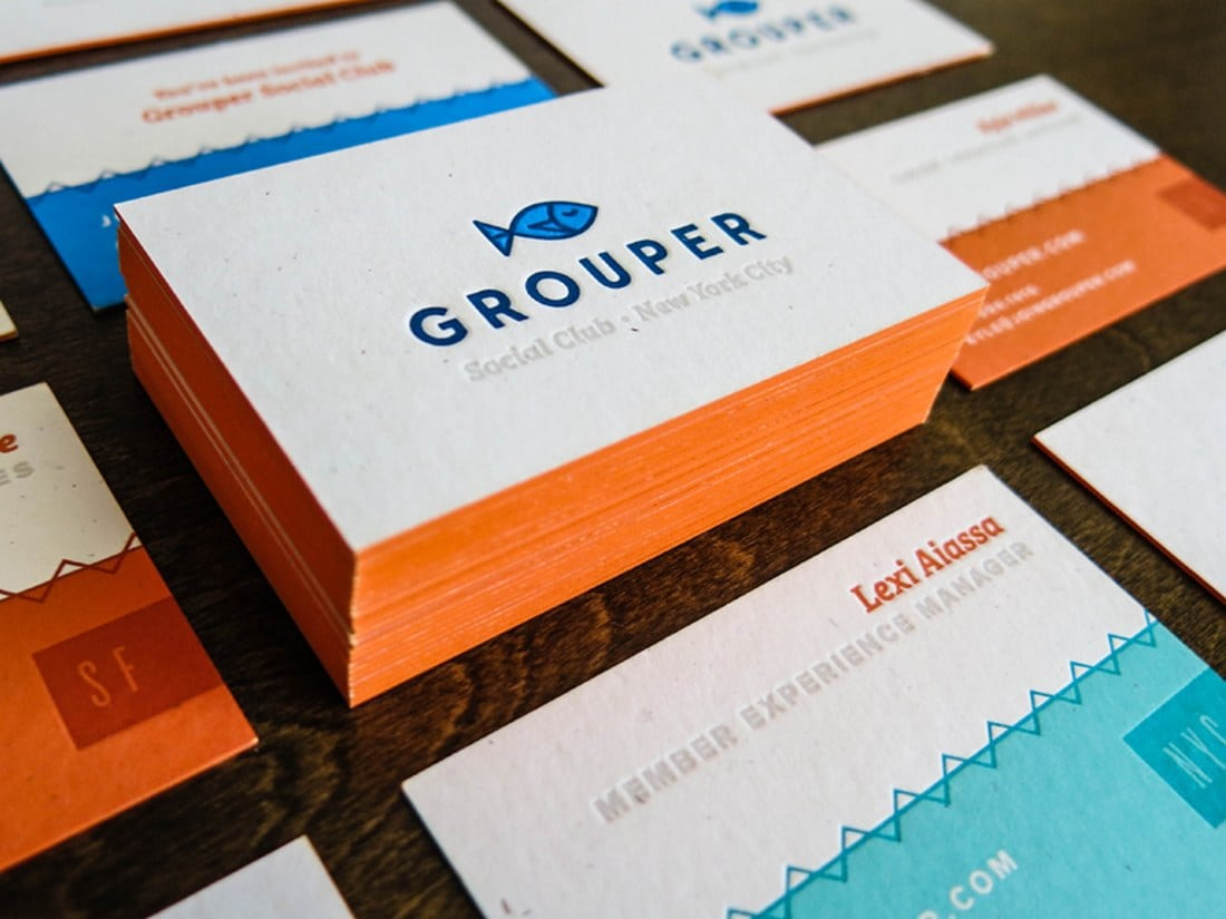 Grouper Letterpress Business Card