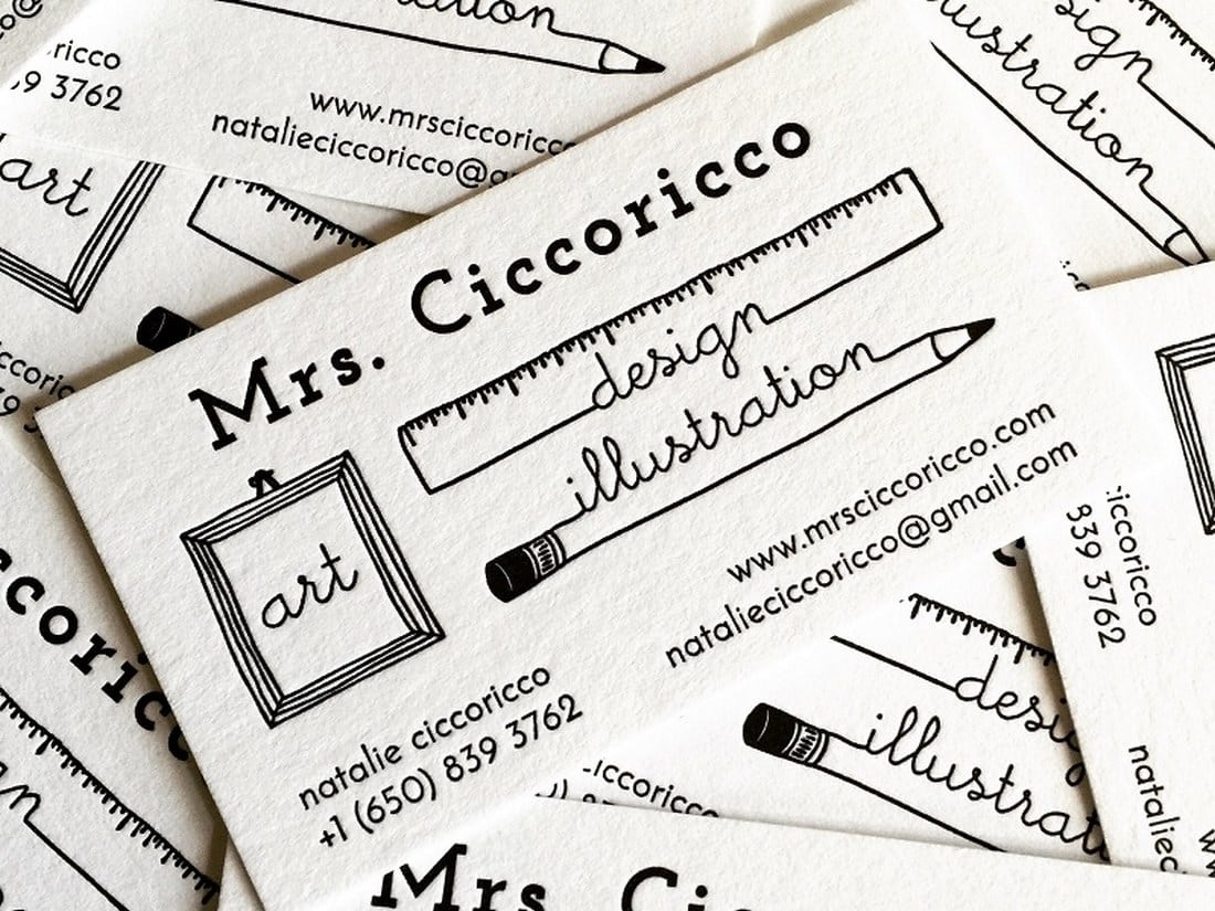 Modern Letterpress Business Card