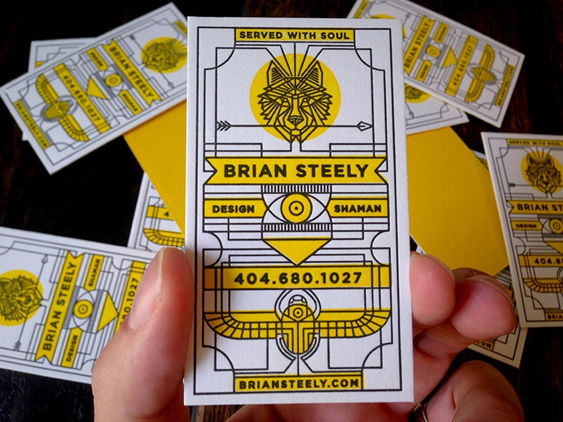 Vertical Letterpress Business Card