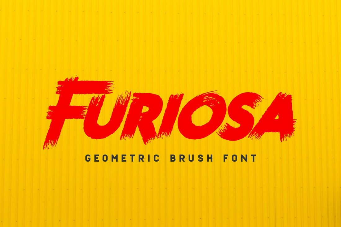 Furiosa – Geometric Brush Font