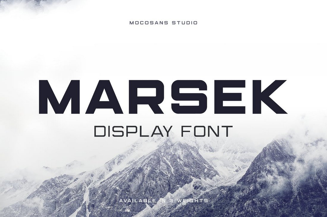Marsek – A Solid Display Font