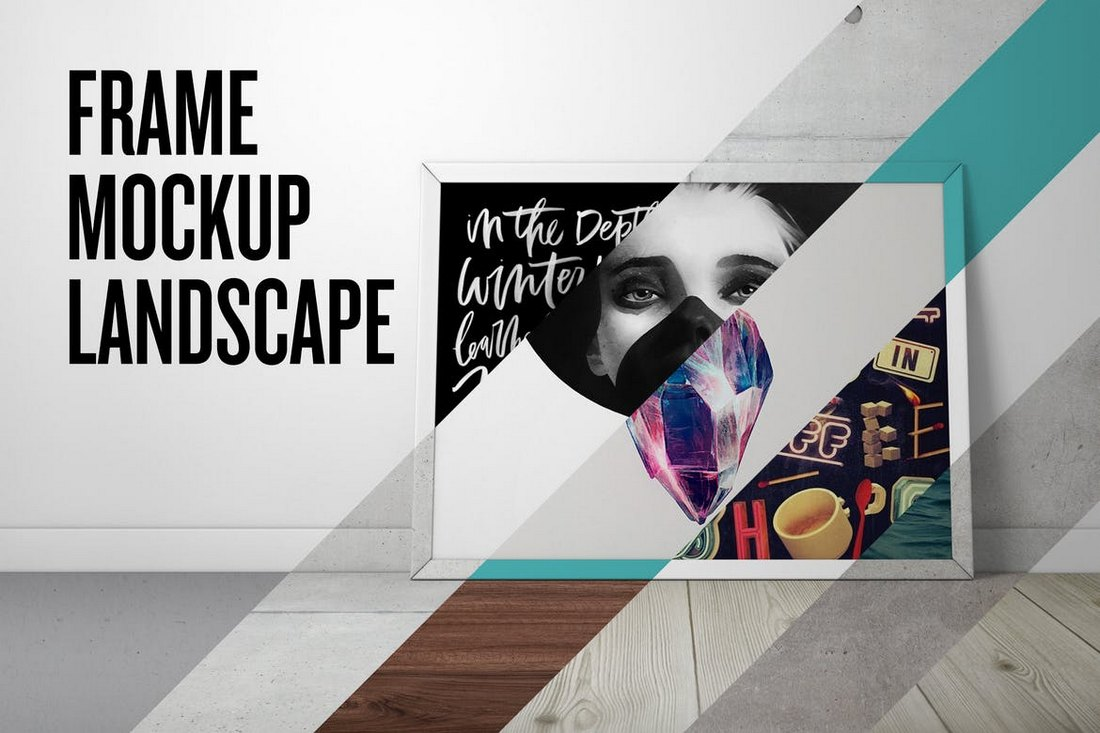 Poster Frame Mockup – Landscape