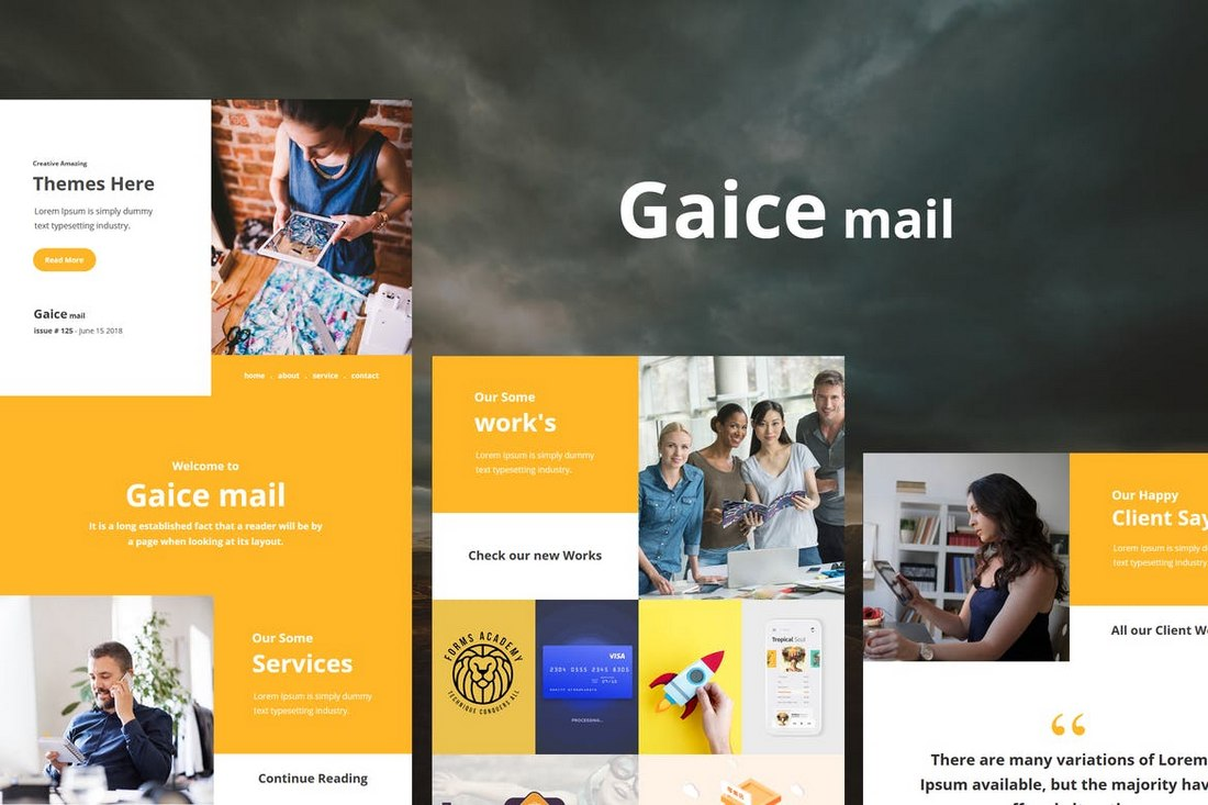 Gaice Mail – Responsive E-mail Template