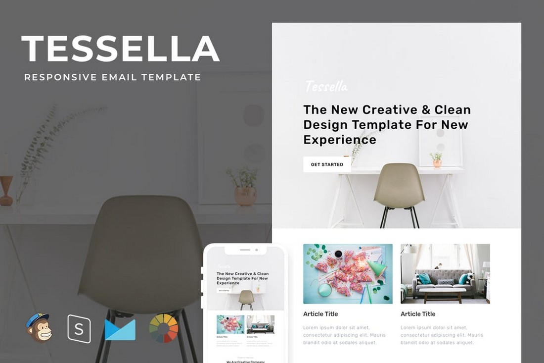 Tessella – Modern Responsive Email Template