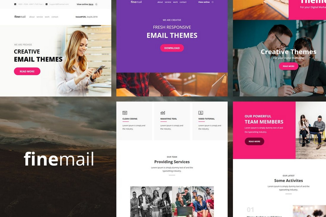 Finemail – 60+ Modules E-mail Templates