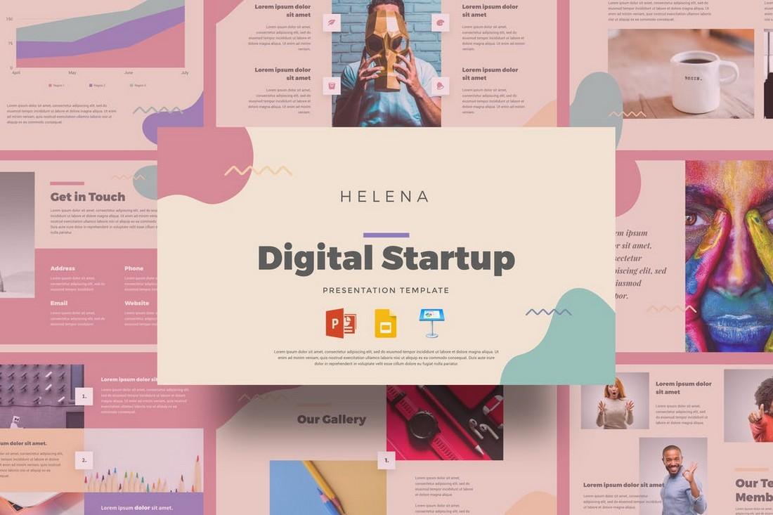 Helena – Digital Startup Presentation Template