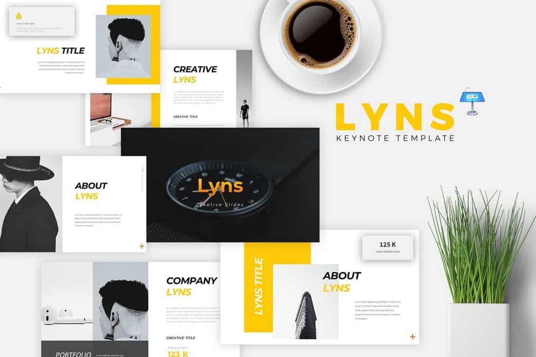 LYNS – Creative Keynote Template
