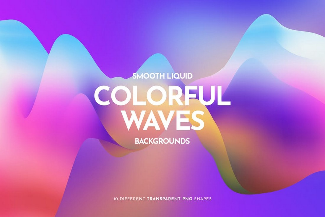 Colorful Liquid Waves Backgrounds