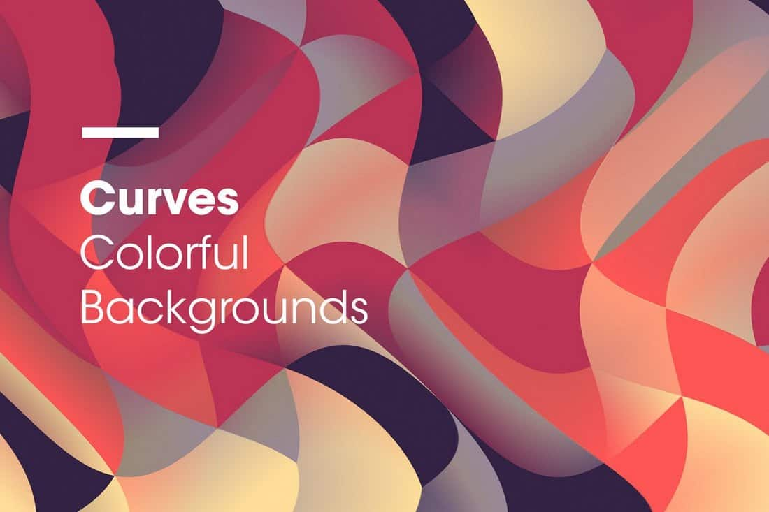 Curves – Colorful Wavy Backgrounds