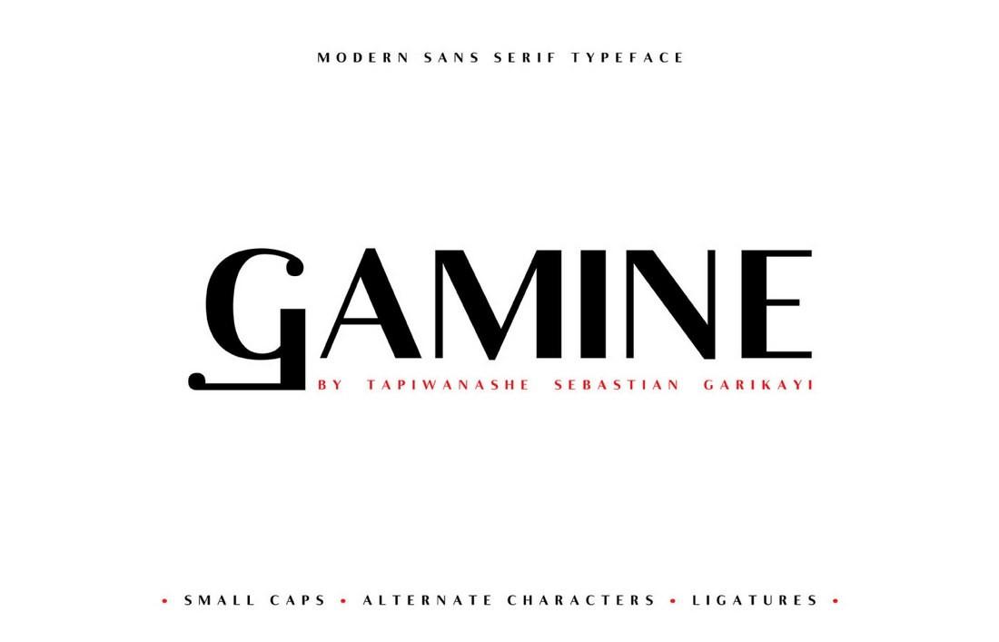 Gamine – Free Sans-Serif Business Font