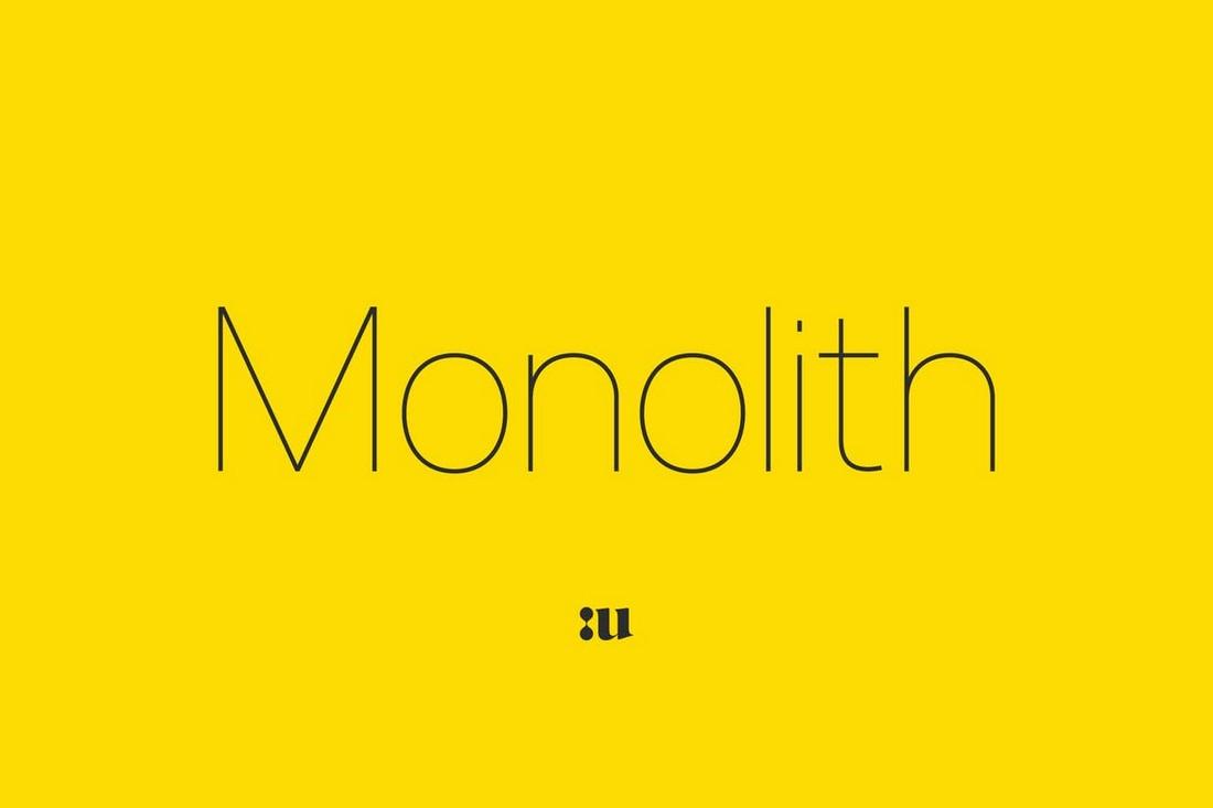 Monolith – Minimal Sans Font Family