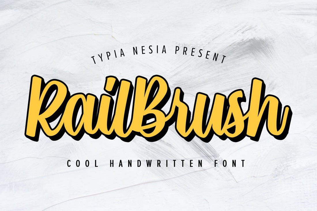 RailBrush – Trendy T-Shirt Font