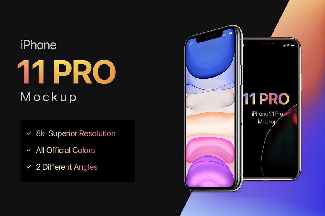 8K iPhone 11 Pro Mockup