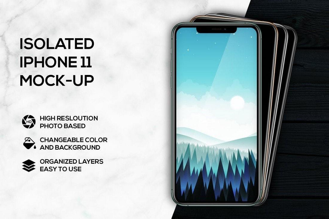Isolated iPhone 11 Mockups