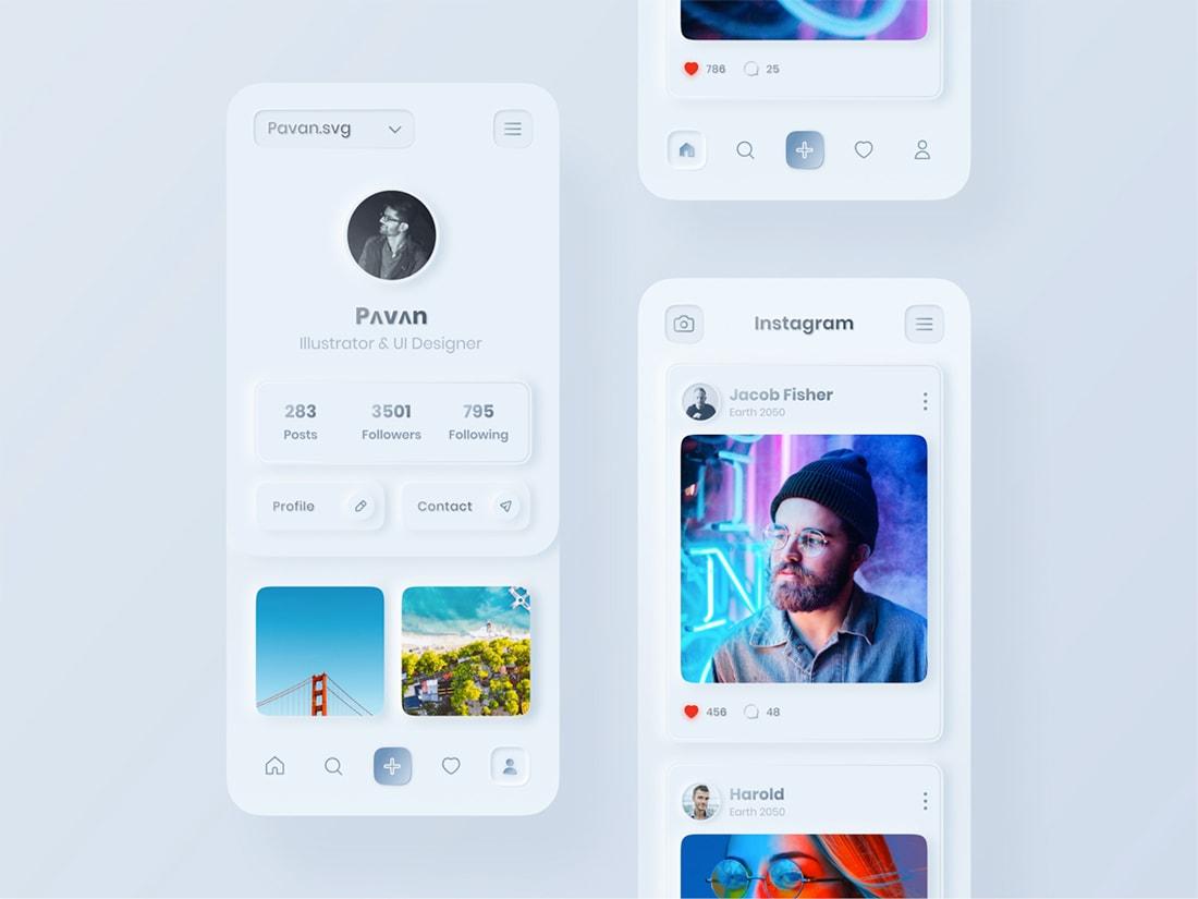 Neo Instagram UI Concept